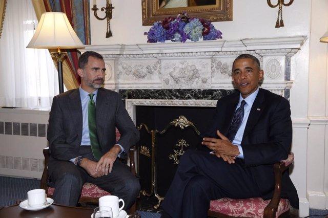 Obama recibe al Rey Felipe VI