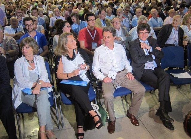 M.Borràs, H.Rakosnik, Artur Mas, C.Puigdemont (CDC)