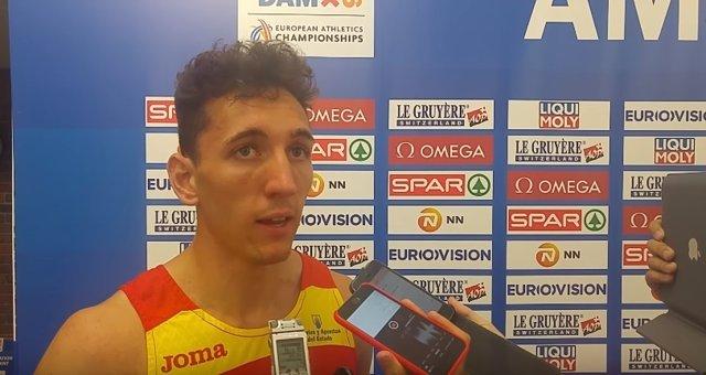 El Atleta español Sergio Fernández