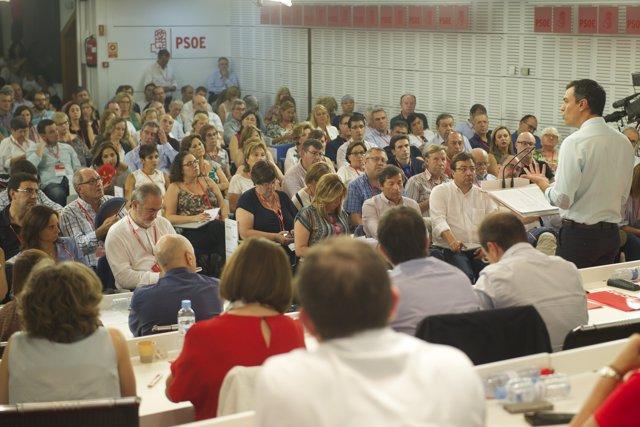 Pedro Sánchez ante el Comité Federal del PSOE