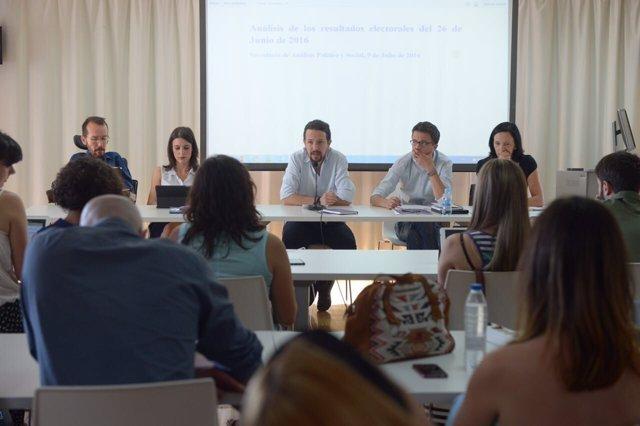 Consejo Ciudadano de Podemos, presisido por Pablo Iglesias