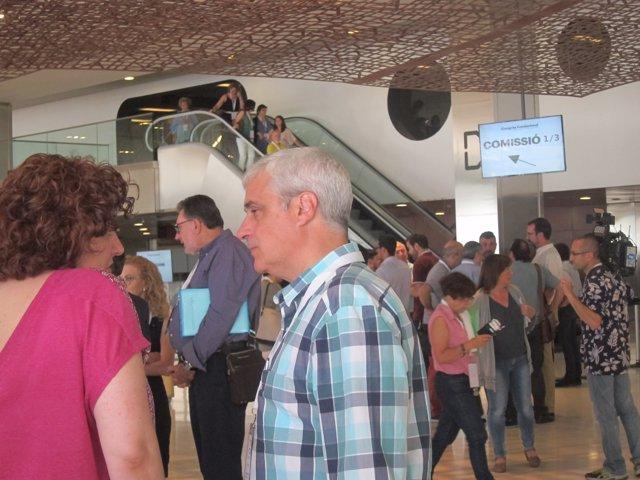 Germà Gordó en el congreso de fundación de la nueva CDC
