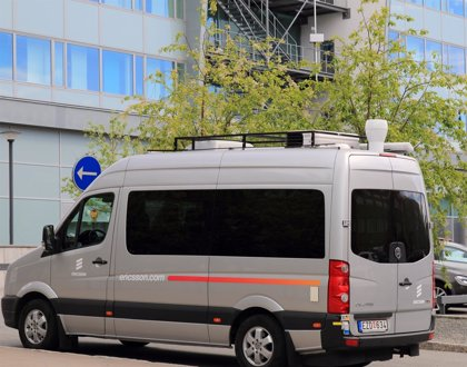 Ericsson supera los 7 Gbps de velocidad en una prueba de 5G con un vehículo en movimiento
