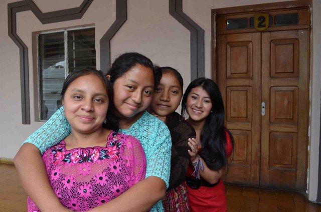 Jóvenes participantes en un programa de Plan International en Guatemala