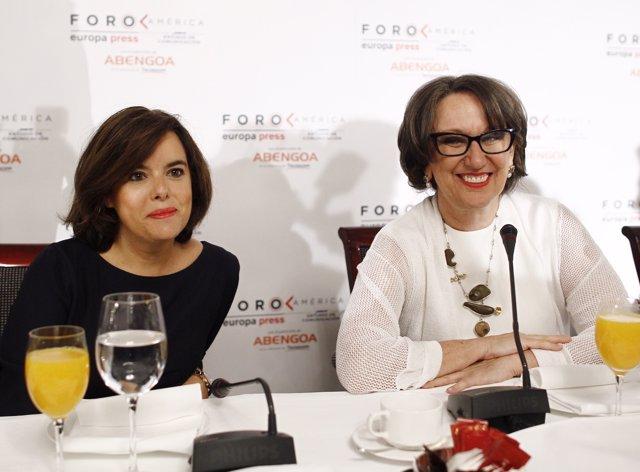 Soraya Sáenz de Santamaría, presenta a Rebeca Grynspan
