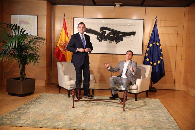 Reunión de Rivera y Rajoy
