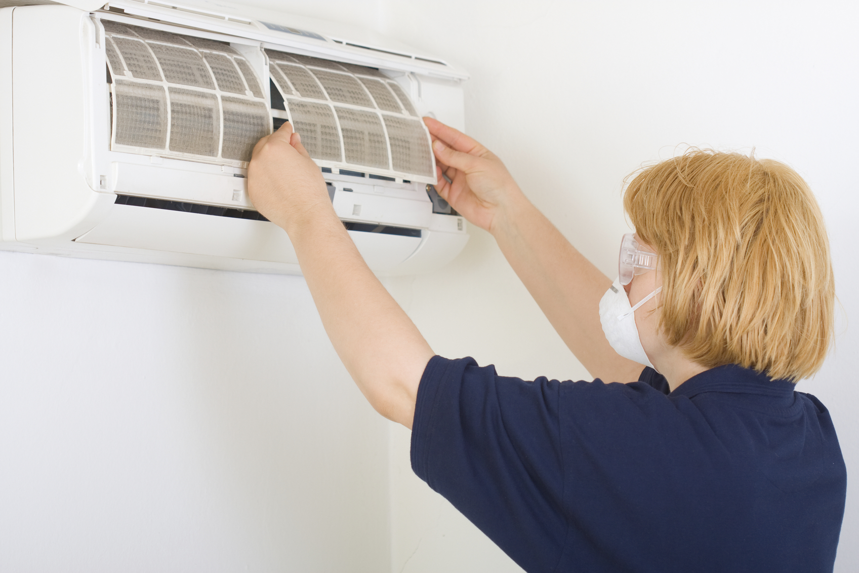 Limpieza de los filtros del aire acondicionado