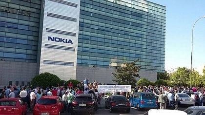 Trabajadores de Alcatel-Lucent Nokia se concentran en Madrid contra el ERE