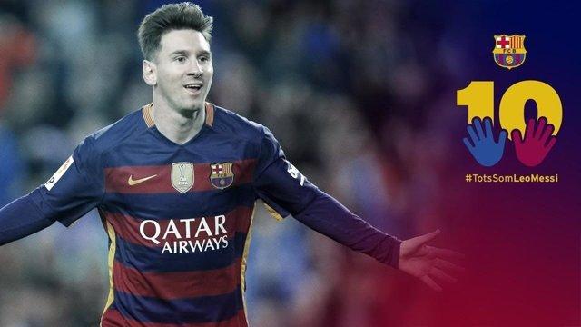 Polémica campaña de apoyo a Messi