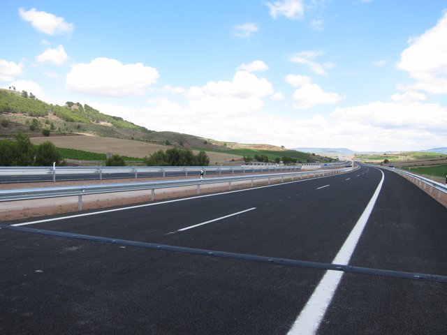 Asfalto, carretera sin tráfico