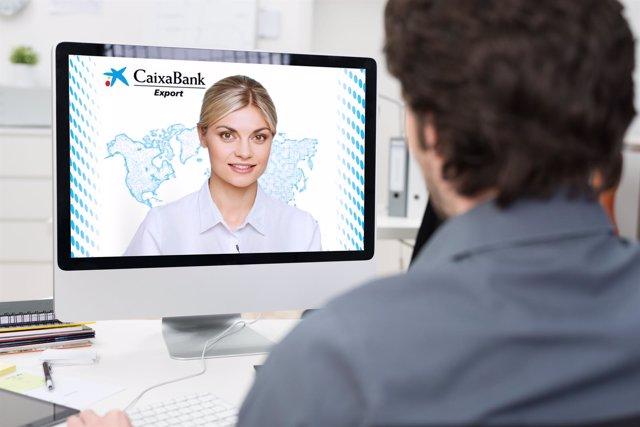 Asesoramiento empresarial por videoconferencia de CaixaBank