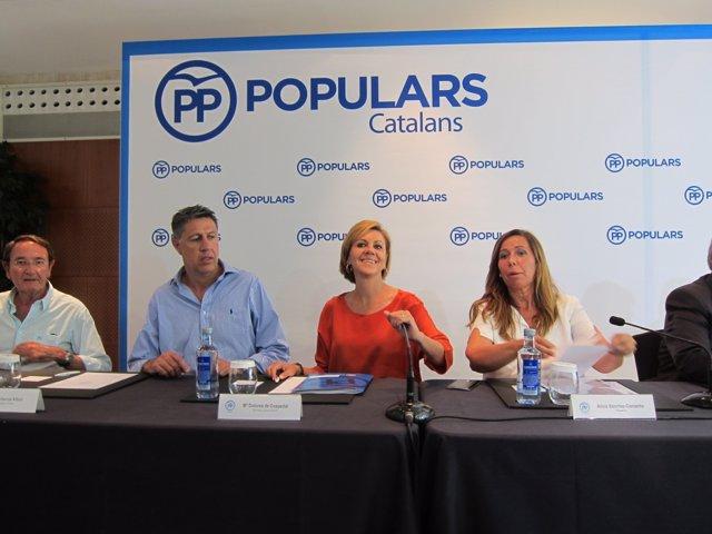Los populares X.G.Albiol, M.D.Cospedal y A.S.Camacho