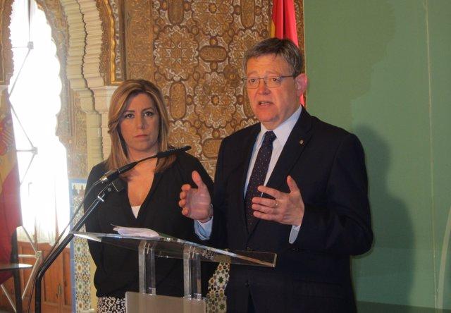 Ximo Puig y Susana Díaz en un acto en Almería