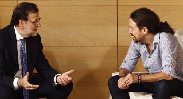 Mariano Rajoy se reúne con Pablo Iglesias en el Congreso