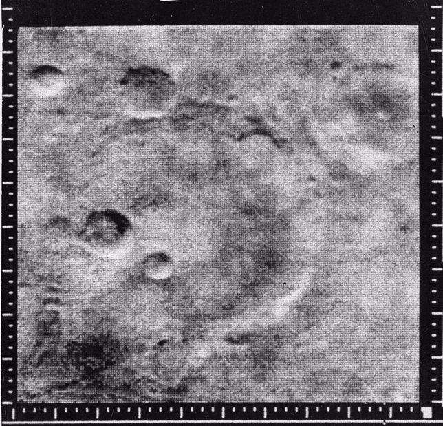 Primeras imágenes de los cráteres de Marte