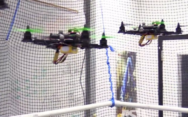 Drones controlados por el mismo cerebro