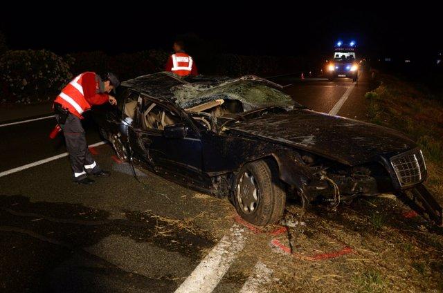Accidente de un menor tras conducir con cepo.