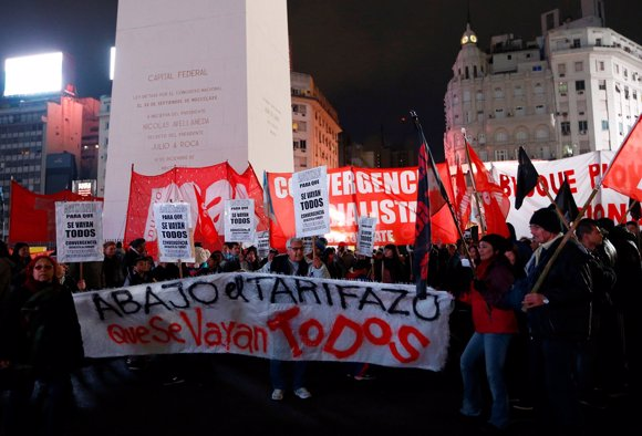 Protestas contra el 'tarifazo' en Argentina
