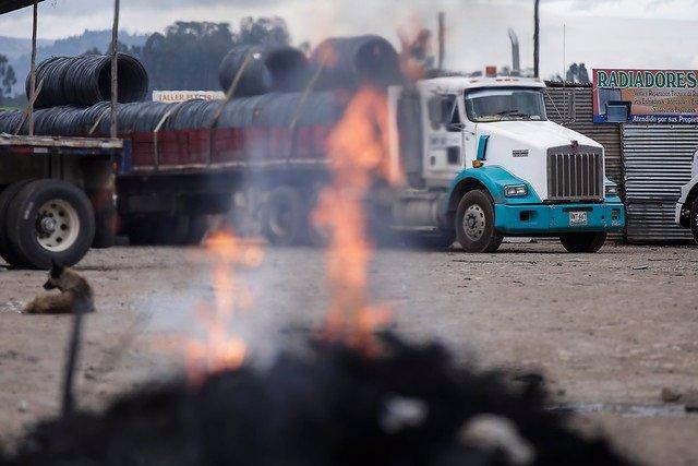 Huelga camioneros