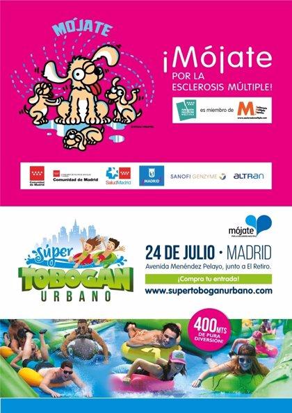 Se celebra en Madrid el 'Súper tobogán urbano' para contribuir con esclerosis múltiple