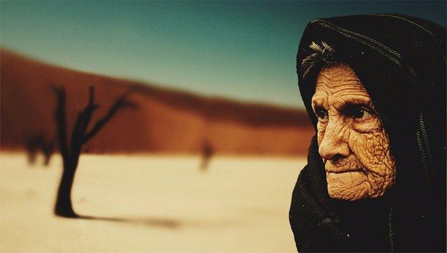 Anciana, myjer mayor, arrugas