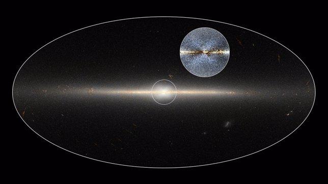 La X en el centro de la Vía Láctea