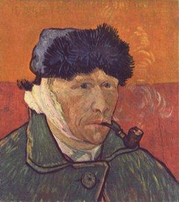 Vincent van Gogh Autorretrato con oreja vendada