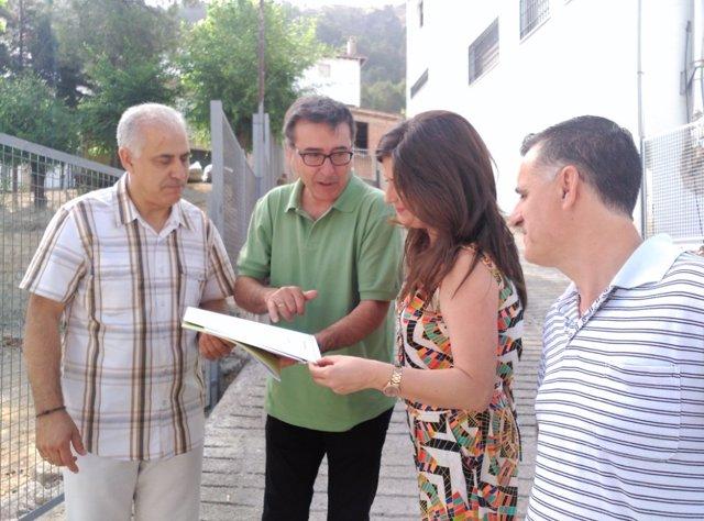 Visita de la Junta de Andalucía a obras en colegio de Burunchel (Jaén)