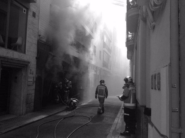 Incendio en un restaurante del centro de Sevilla