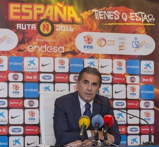 Sergio Scariolo, seleccionador nacional de baloncesto
