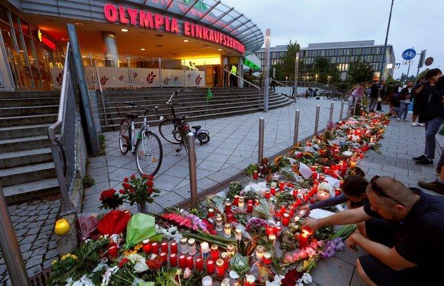 Homenaje a las víctimas del tiroteo de Múnich