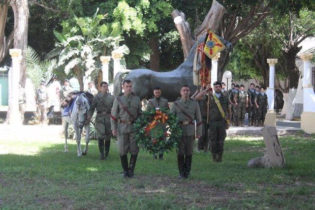 Acto militar en Melilla