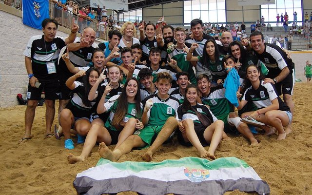 Selección extremeña de futbol playa cadete