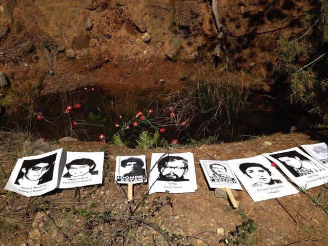 Fosa en Colonia Dignidad y fotos de desaparecidos