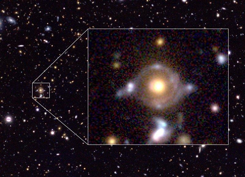Resultado de imagen de Lente gravitacional
