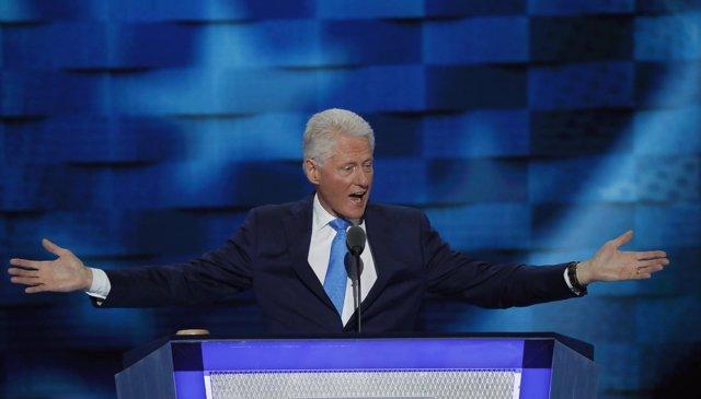 Bill Clinton durante la Convención Demócrata 2016