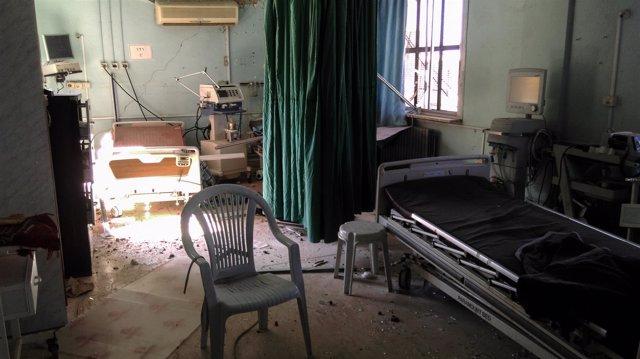 Ataque contra un hospital en Busra (SIria) con barriles bomba