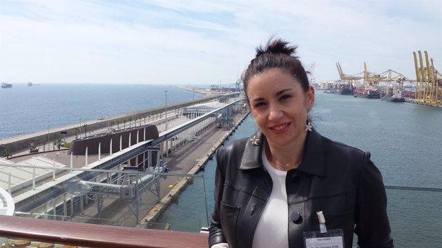 Mar Pérez, jefa de Cruceros del Puerto de Barcelona