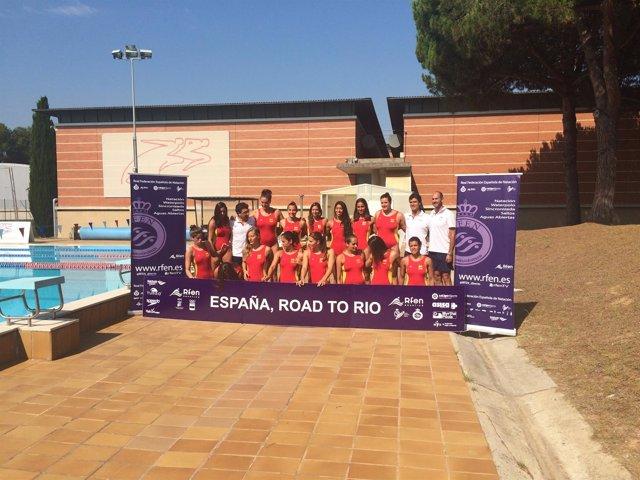 La selección femenina de waterpolo en el CAR de Sant Cugat