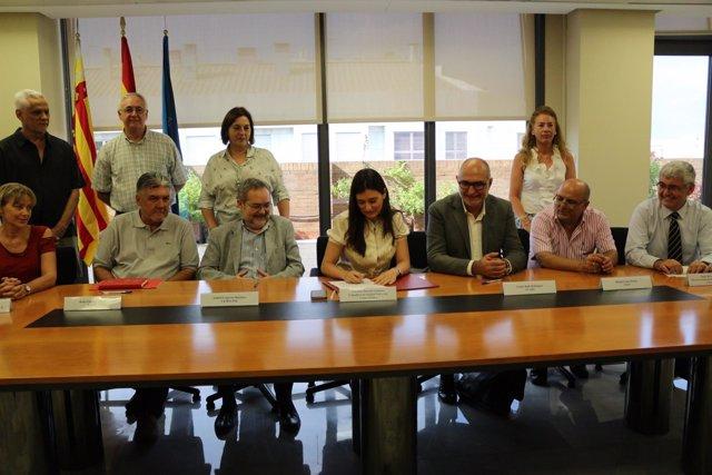 Firma del Pacto de Estabilidad en el Empleo de Sanidad