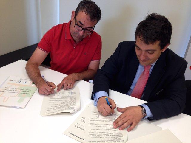 Firma Convenio 'La Caixa' AFA Zamora
