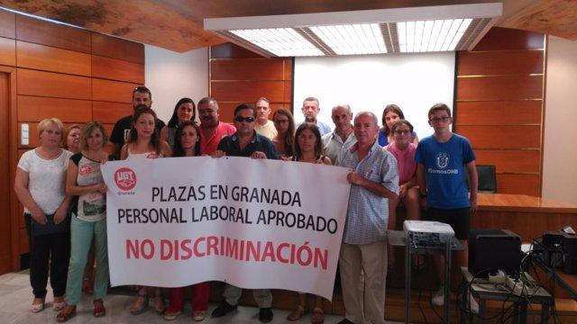 Encierro de trabajadores de la Agencia Tributaria en Granada
