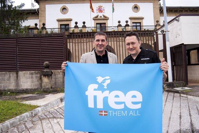 Arnaldo Otegi y Fermín Muguruza