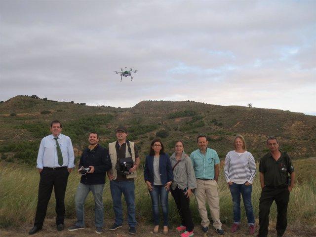 Fotografía Uso Drones Controles De Campo