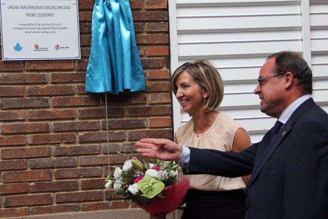 García durante la inaugura la nueva Unidad de San Juan de Dios