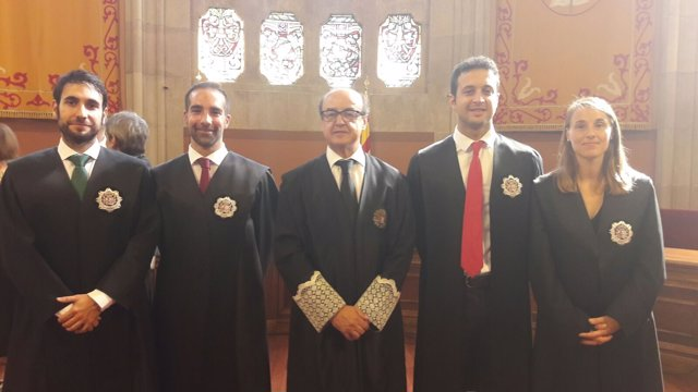 El presidente del TSJC Jesús María Barrientos preside la jura de nuevos jueces
