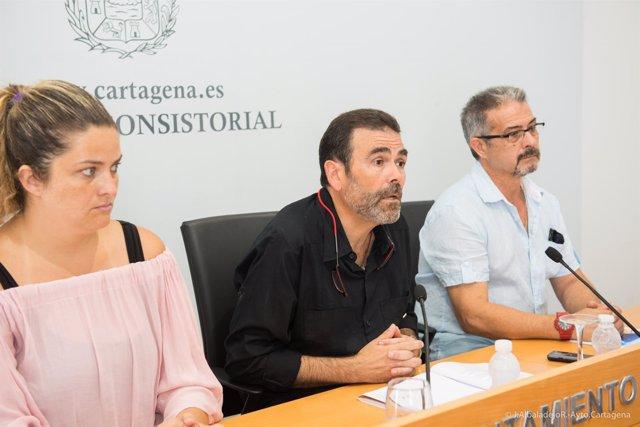 El alcalde de Cartagena, José López, en rueda de prensa