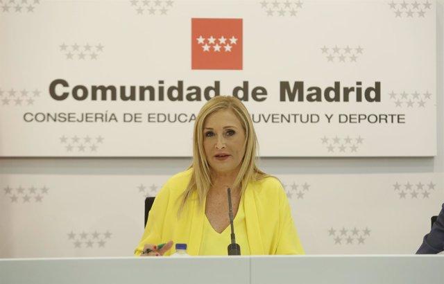 Cristina Cifuentes en rueda de prensa posterior al Consejo de Gobierno