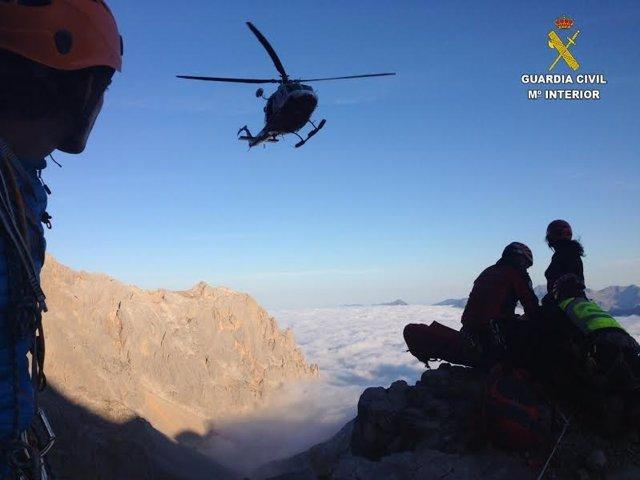 Foto rescate en montaña