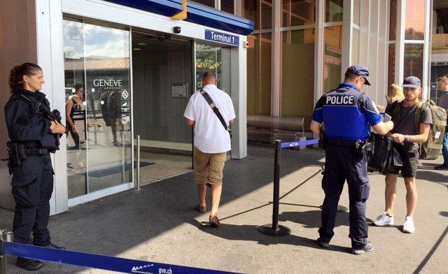 Controles en el aeropuerto de Ginebra